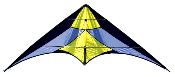 French Kiss Yellow Stunt Sport Kite