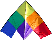 Patchwork 12' Delta Kite