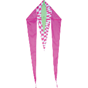 Pink Op-Art Mini Flo-Tail Delta Kite