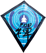 Chinese Kanji Zen Diamond Kite